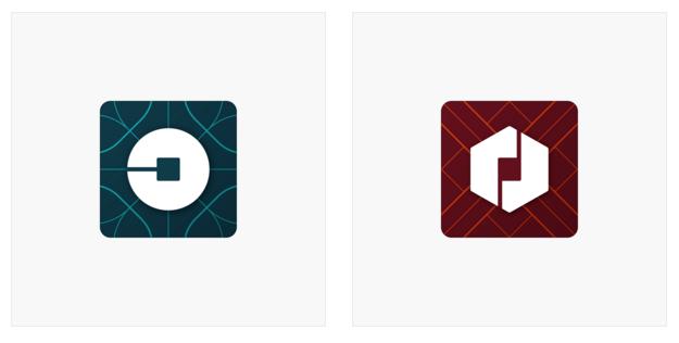 Uber's new app icons