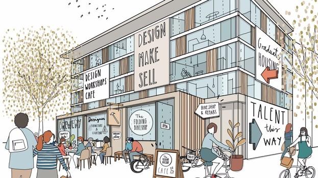 A concept sketch of the new design quarter