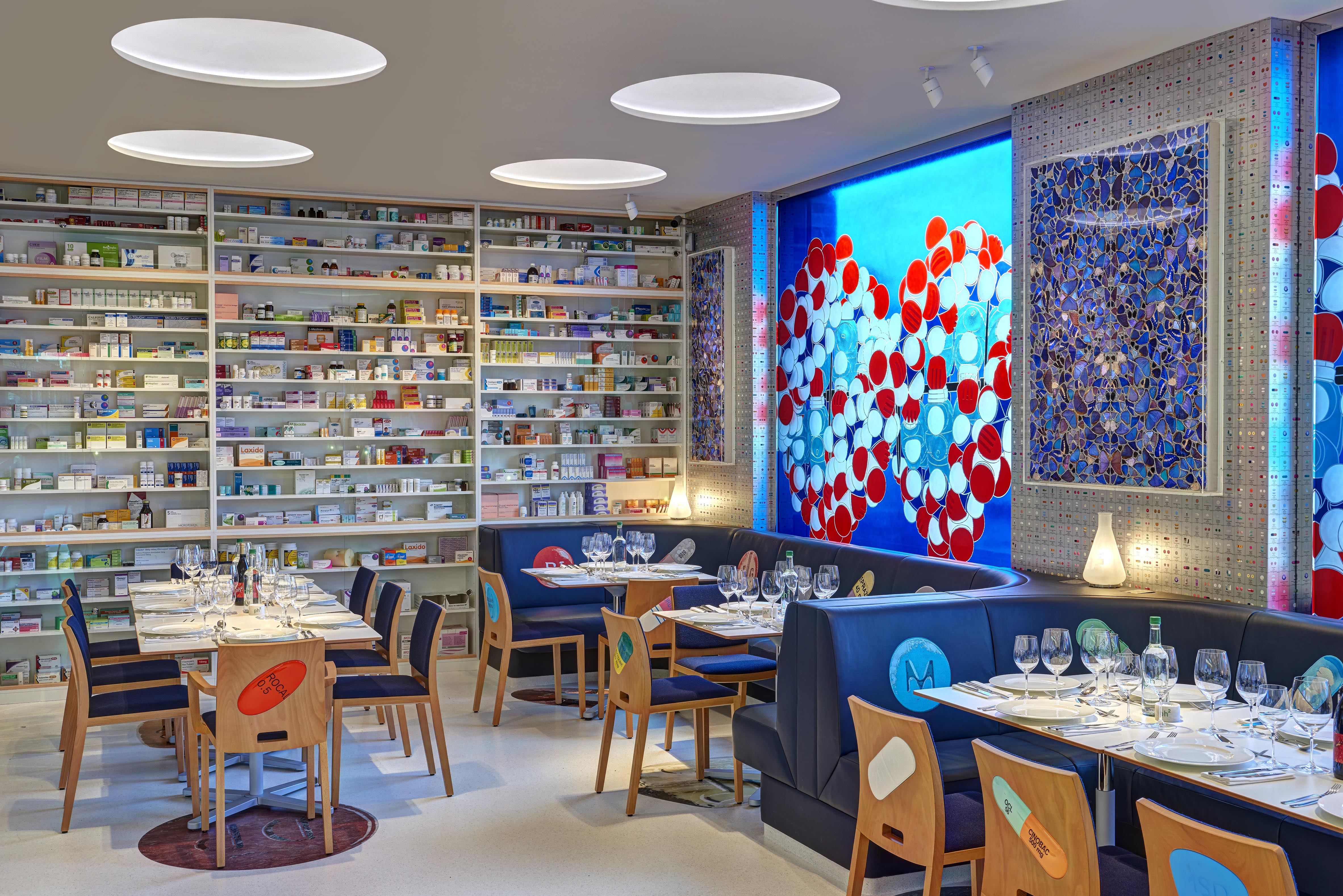 Damien hirst designs new pharmacy restaurant design week