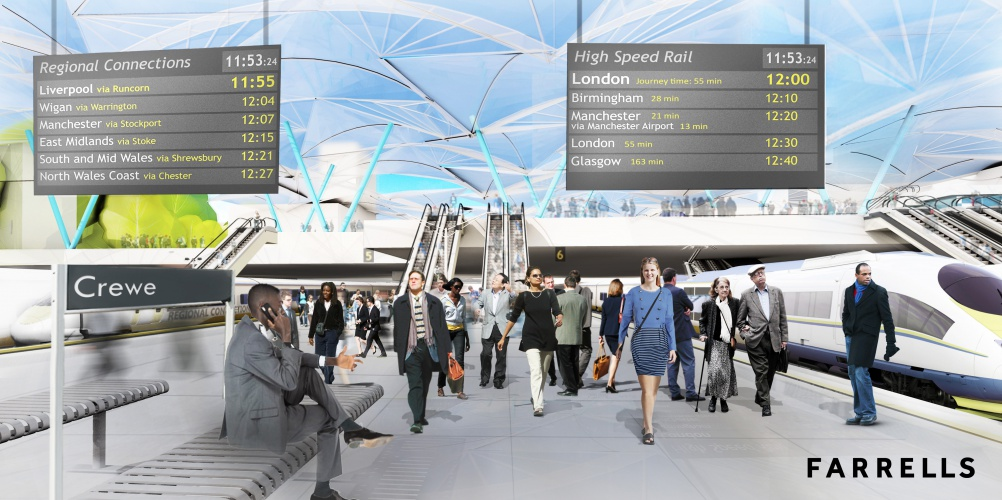 Visualisation of the HS2 hub at Crewe