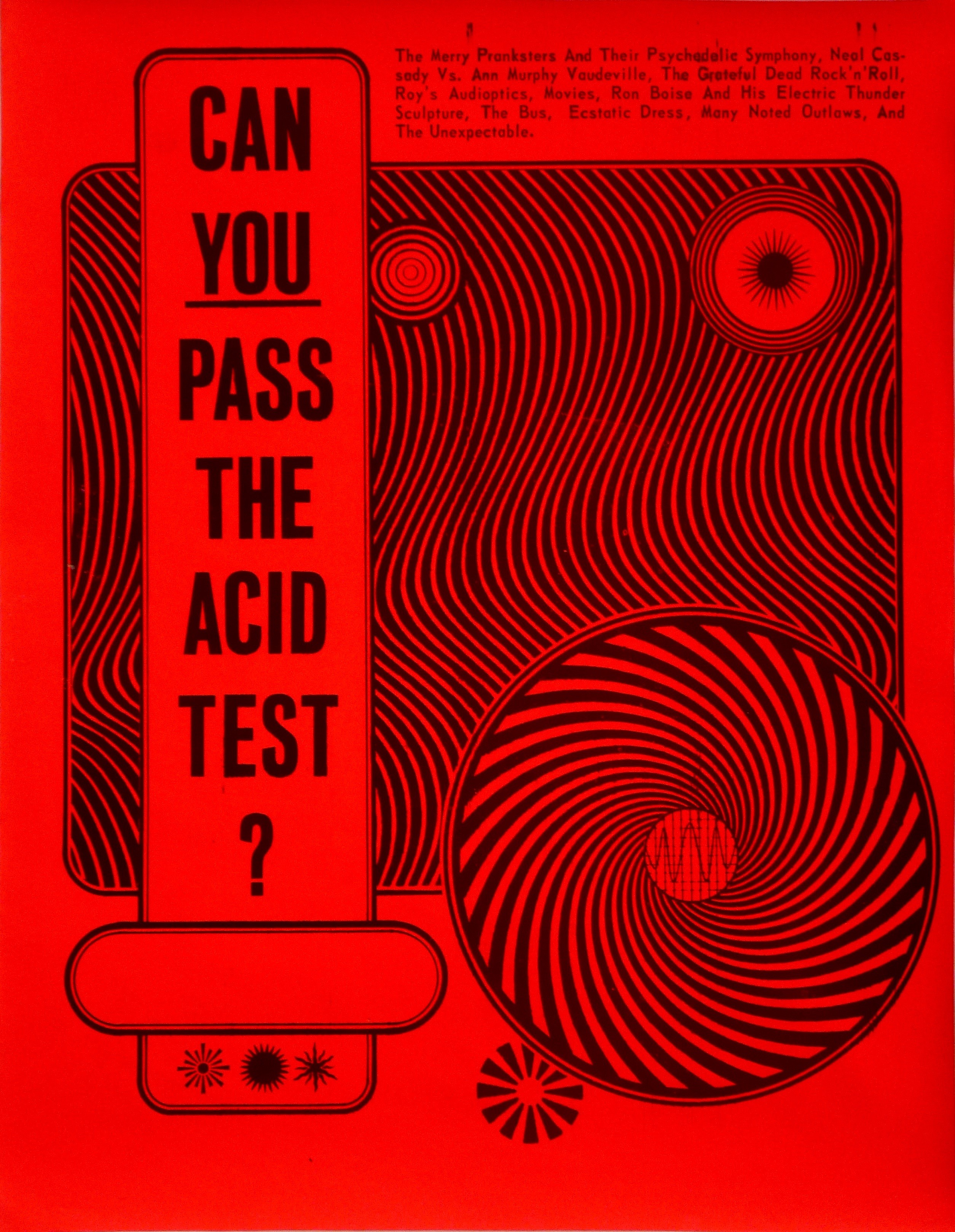 The Acid Test, by Wes Wilson, courtesy of Steward Brand.