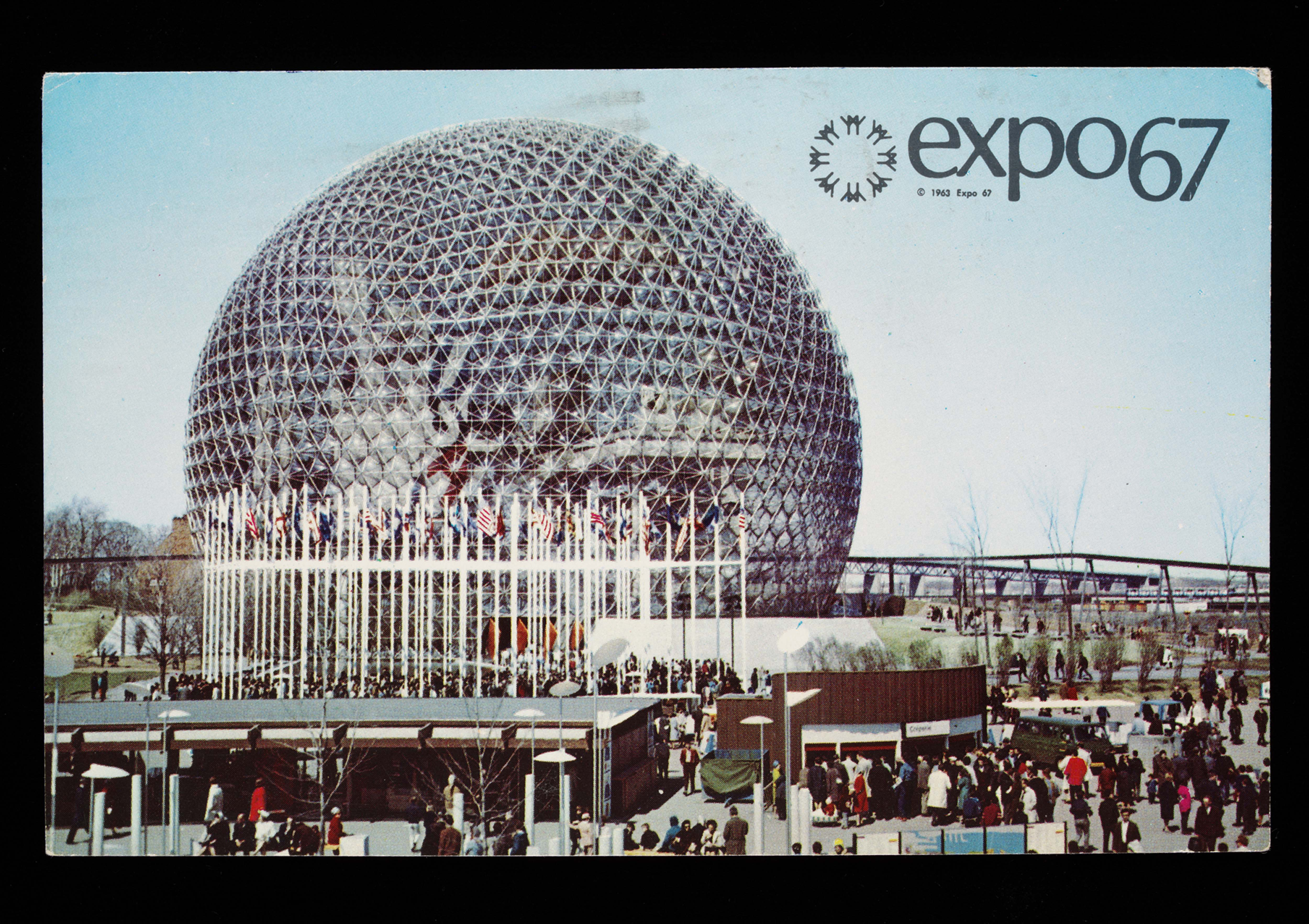 Postcard from Montreal World Expo, 1967. Photograph V&A