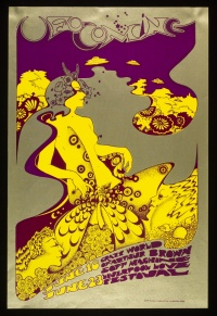 Poster for The Crazy World of Arthur Brown, 1967, by Hapshash and the Coloured Coat.