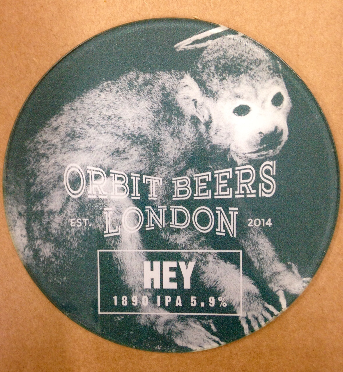Promotional beer tap badge for exhibition launch event