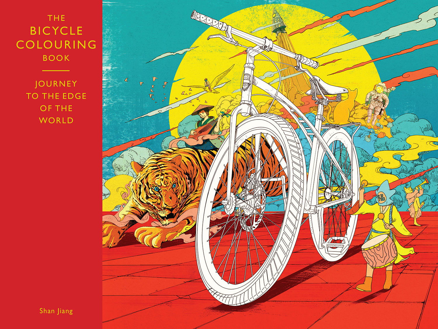 The Bicycle Colouring In Book By Shan Jiang
