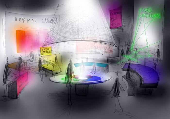 A sketch of the new interactive gallery
