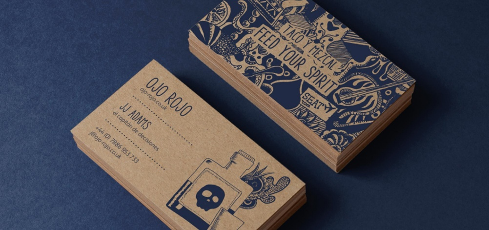 OjoRojo-Business cards