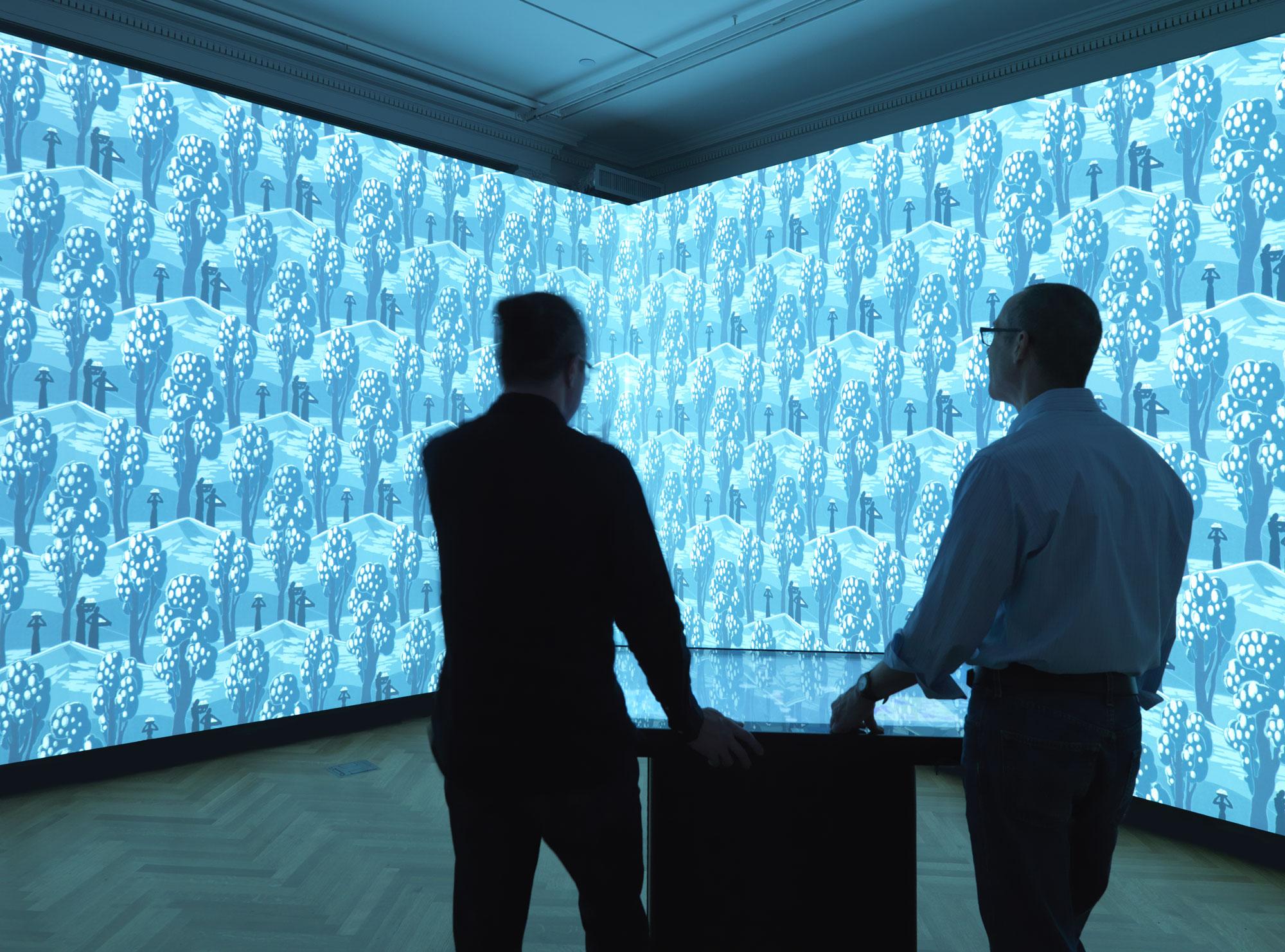 USA installation view of Immersion Room. Photo Matt Flynn© 2014 CooperHewitt, Smithsonian Design Museum
