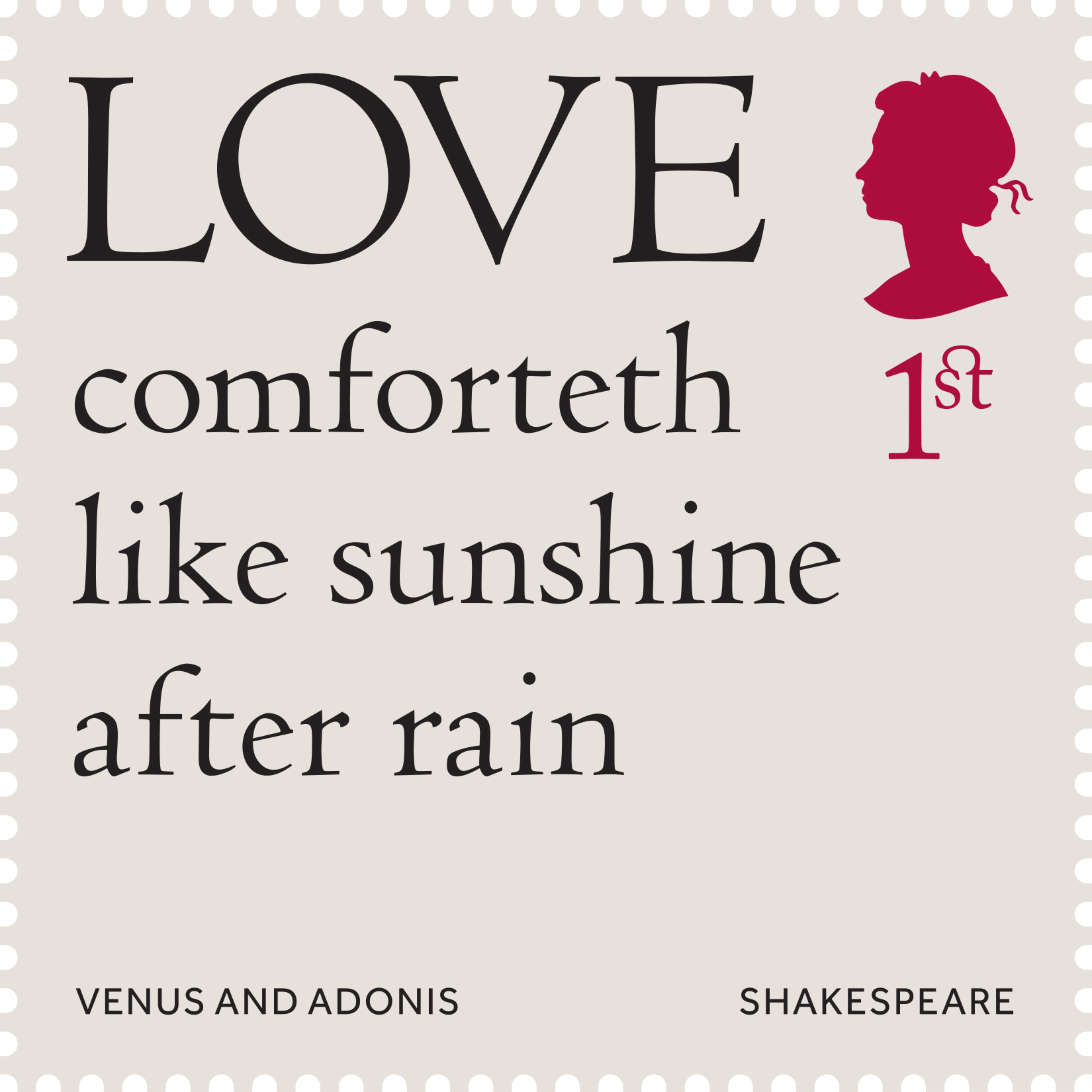 Shakespeare Quotes About Love New Shakespeare Stamps Feature Quotes From The Bard  Design Week