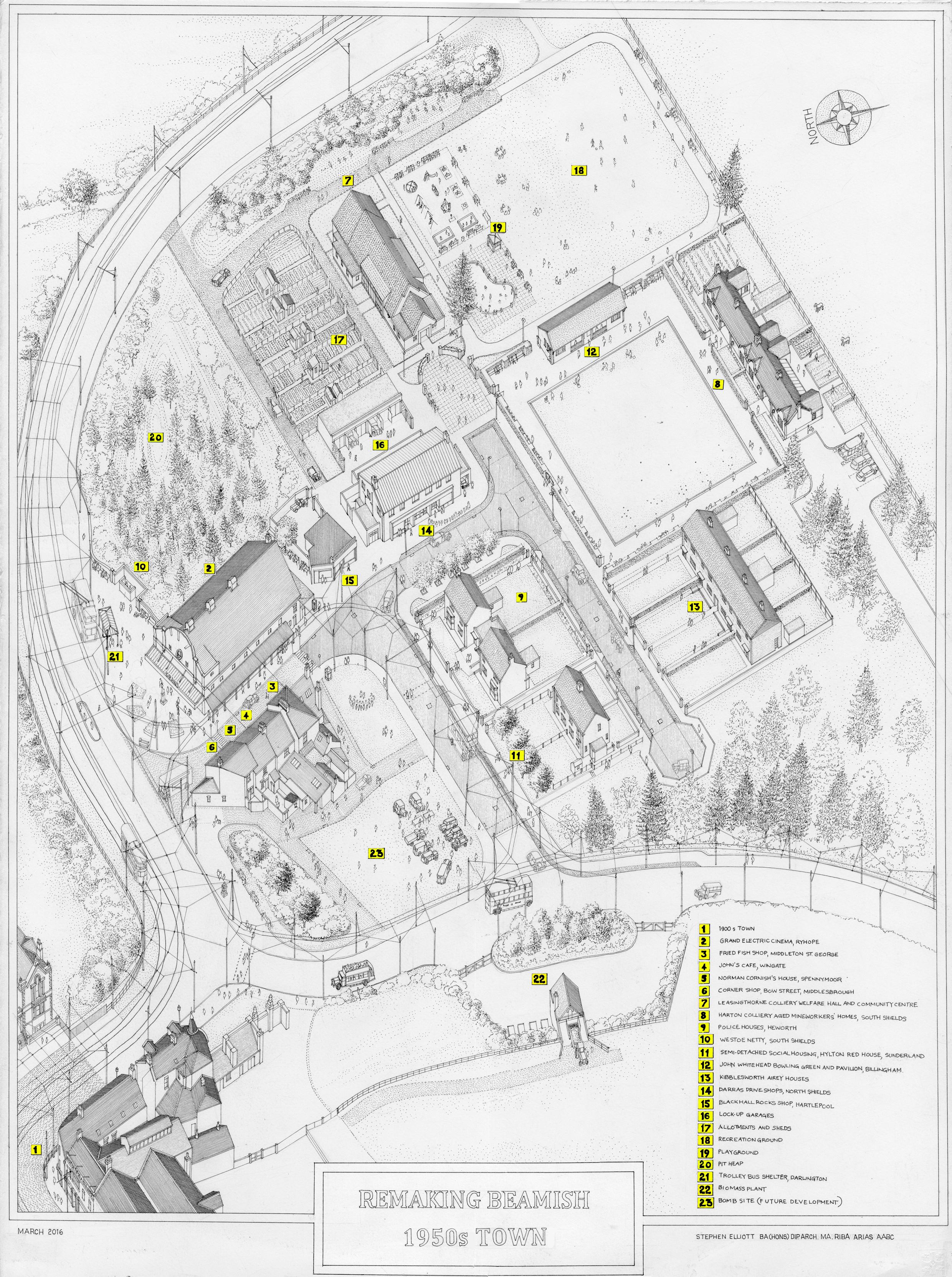 Beamish Museum's Remaking Beamish 1950s Town Plan[1]