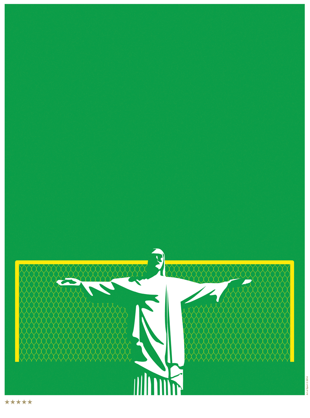 'Jesus Saves' for the Brazil World Cup. Art of Sport, USA, 2014. Solv, creative directors Rob Duncan, and John Paul Stallard