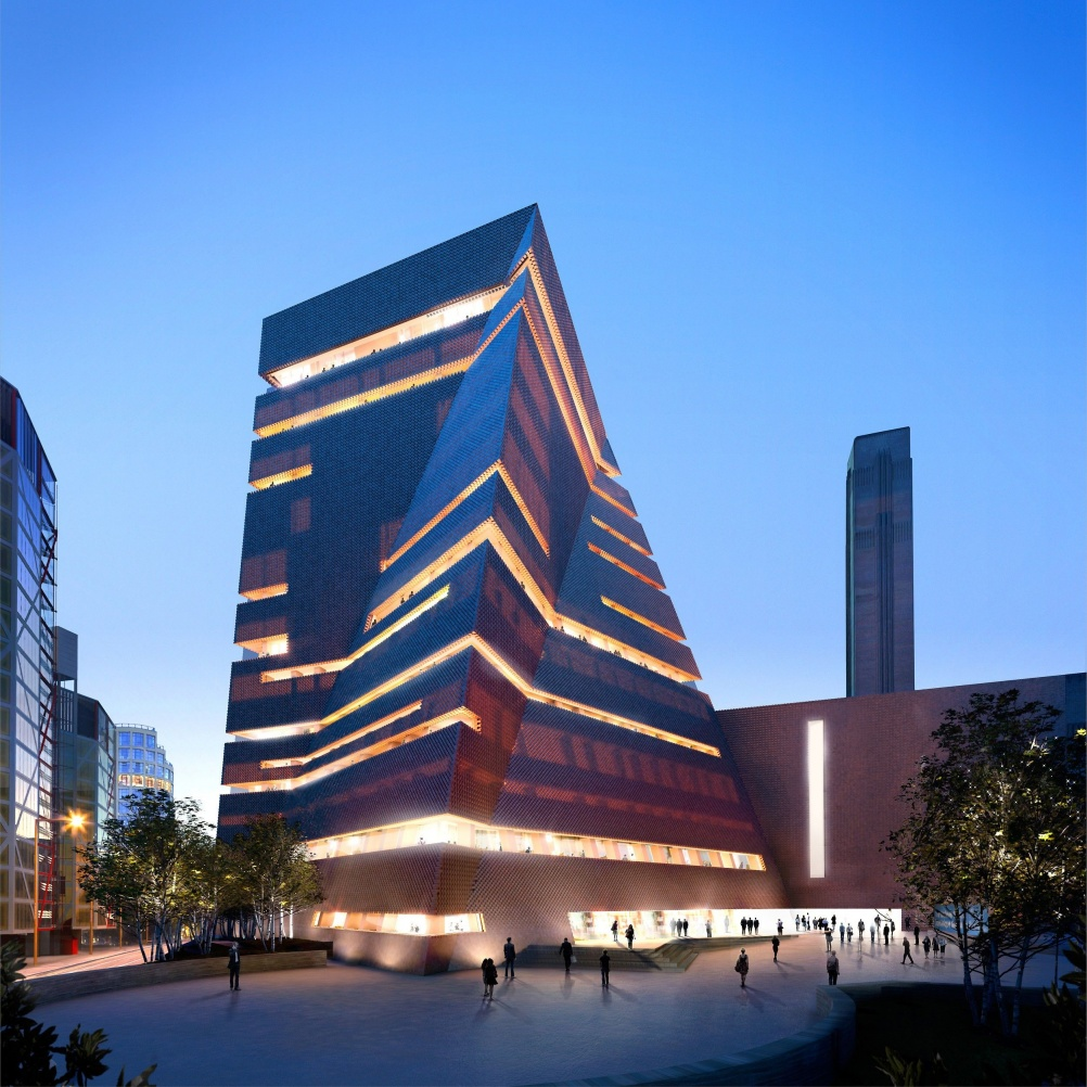 Visualisation of the new Tate Modern building. © Hayes Davidson and Herzog & de Meuron
