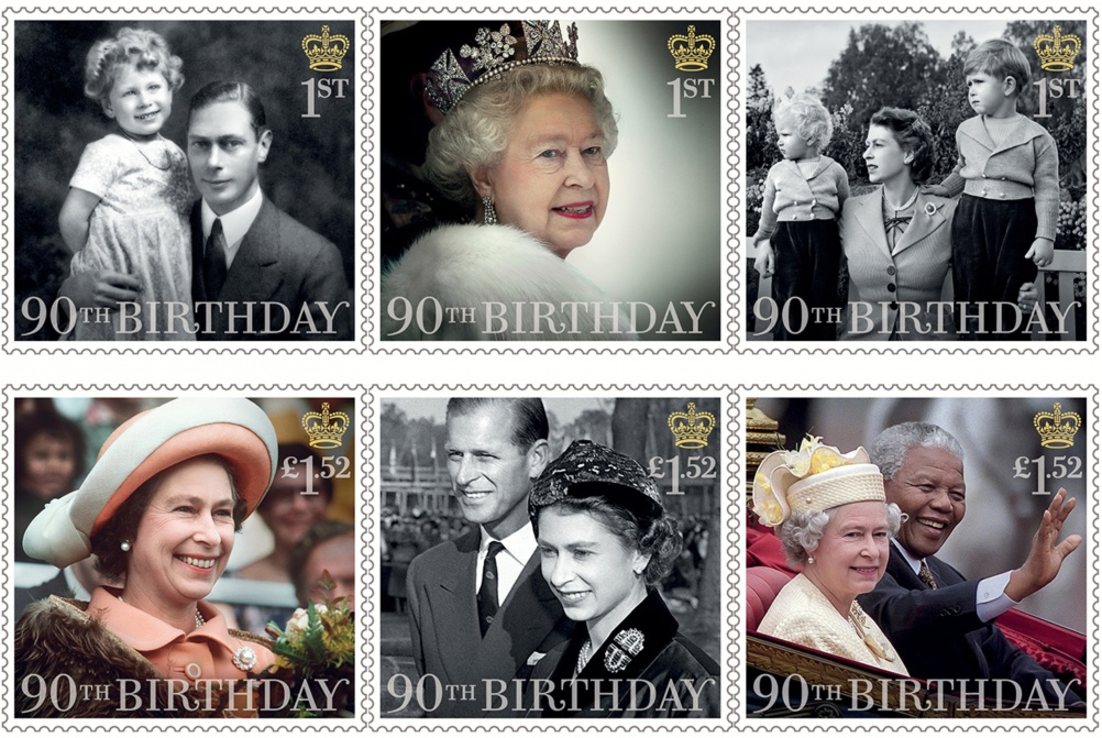 HMQ 90th Birthday stamps full set[3]
