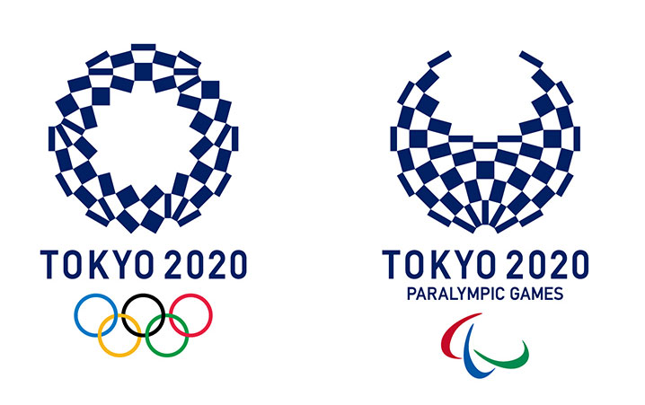 Harmonized chequered emblem - the logo of the Tokyo 2020 Olympics , by Asao Tokolo