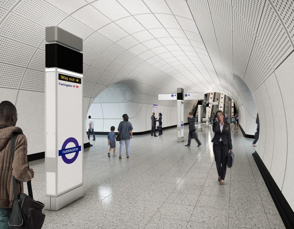 Farringdon station platform concourse