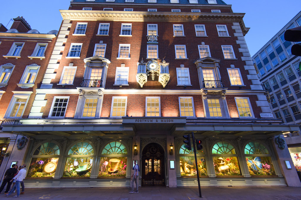 HANDOUT PHOTO Fortnum & Mason unveils its new windows, at its Piccadilly store in central London. The windows are part of a partnership with Disney's Alice Through the Looking Glass, which premieres in the UK this Tuesday.