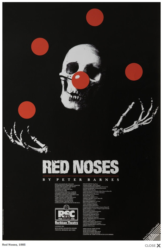 Red Noses (1985) designed by Lloyd Northover Commissioned by The Royal Shakespeare Company