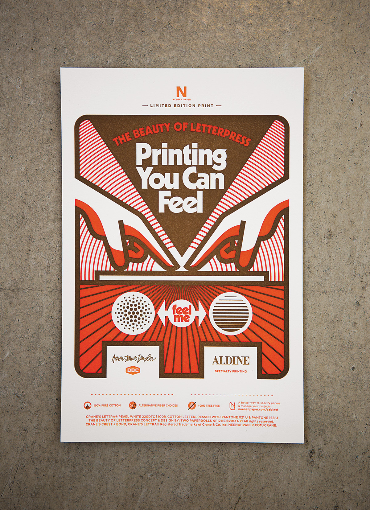 Printing you can feel, for Neenah paper, 2014