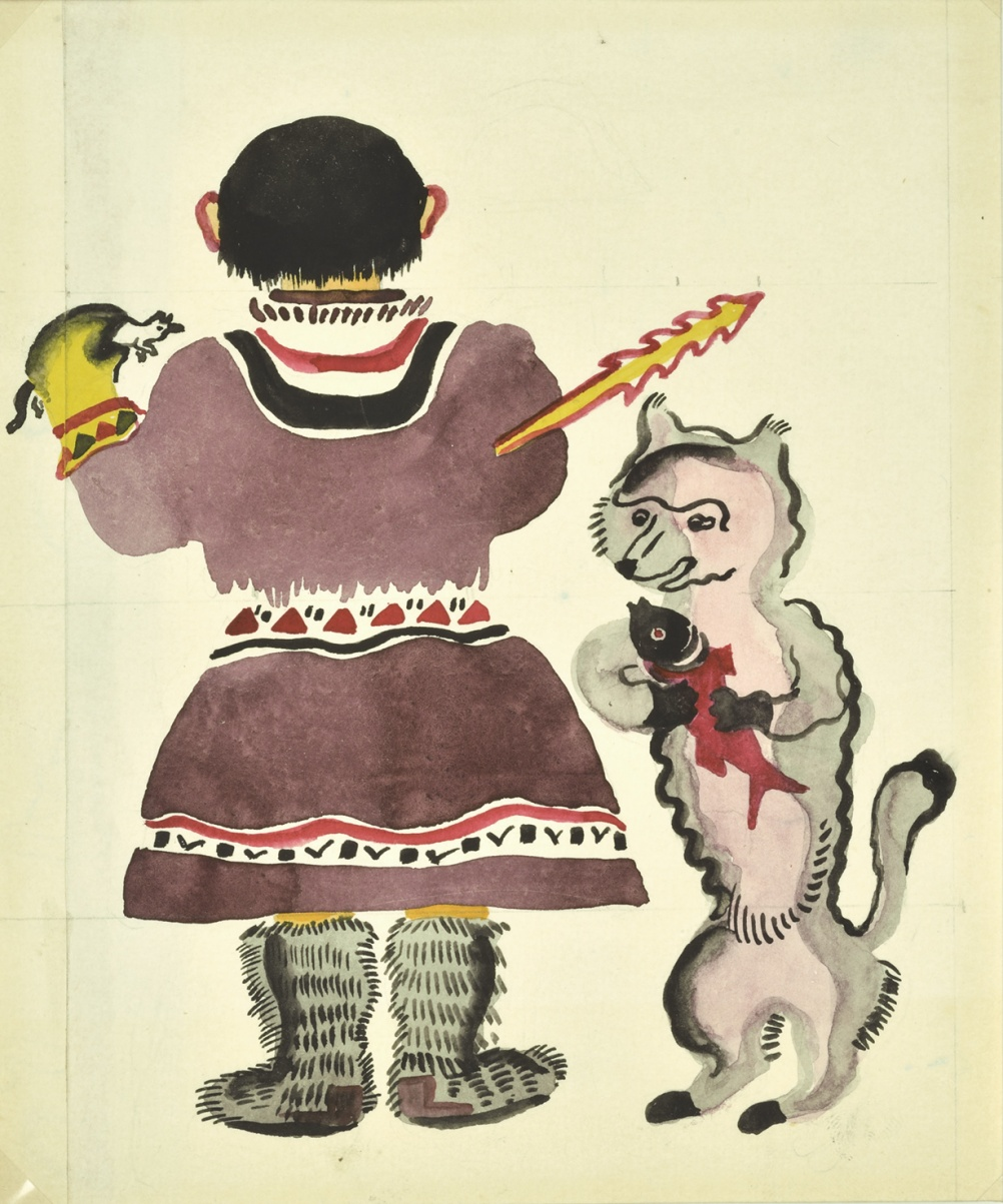 Original illustrations for Little Girls, by Vera Ermolaeva, 1927