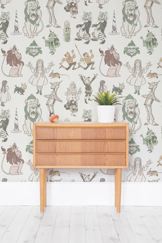 literature themed wallpaper prints by murals wallpaper. Black Bedroom Furniture Sets. Home Design Ideas