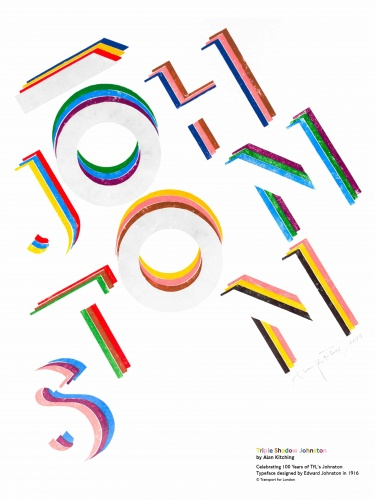 Johnston typeface poster tfl