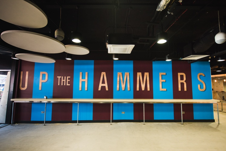 'Up the Hammers', in The Boleyn bar