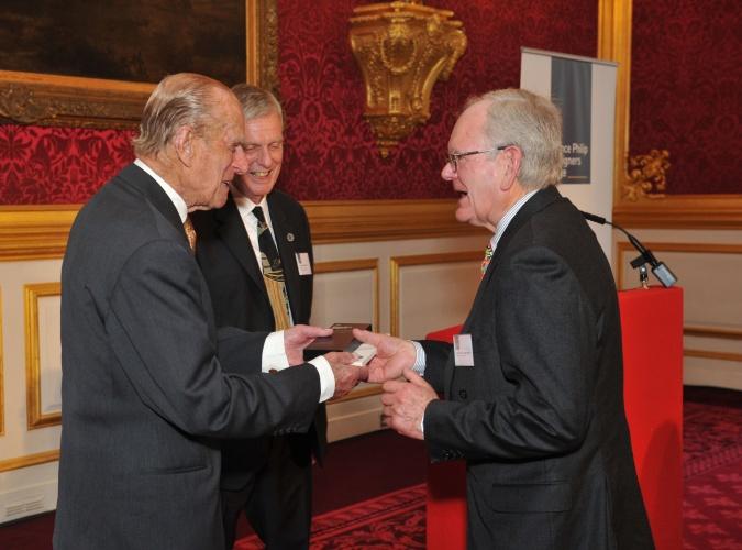 HRH Prince Philip presenting the award