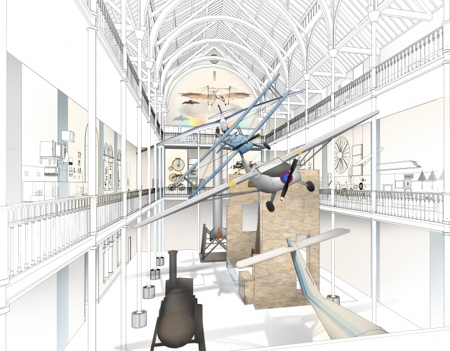 Visualisation of Science and Technology Galleries' atrium