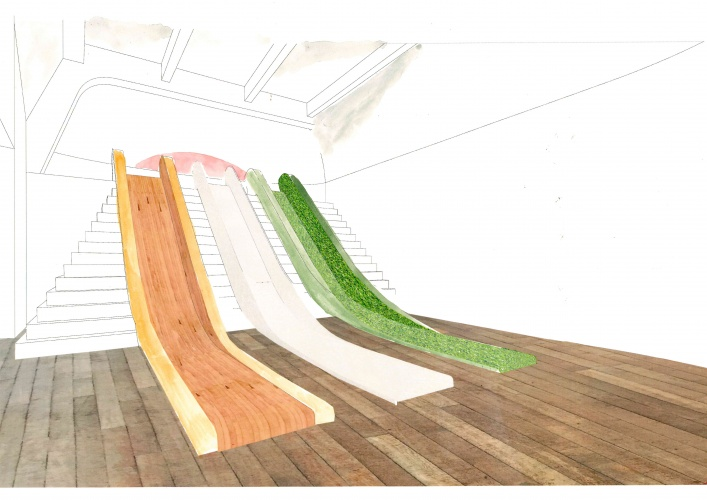 Friction Slide in Wonderlab The Statoil Gallery ∏ Science Museum, muf architecture art