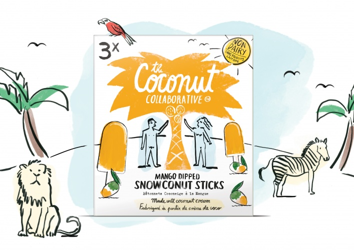 Snowconut sticks