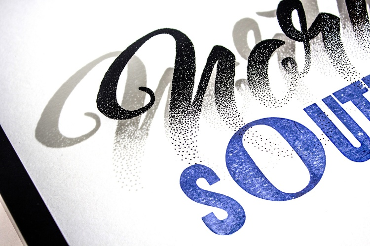 Nicole had seen Craig's beautiful lettering online and was immediately drawn to his craftsmanship and skill. Craig Black — a typographer and designer, based in Glasgow — demonstrates expert appreciation for positive and negative space in his work. High contrast, killer curves, and big impact are all hallmarks of Craigs style. Nicole Phillips — a kiwi typographer, living in Australia — loves to work analogue in pencil or ink. She honors process over product, and built her business model around a practice of creative play. Nicole has always had a philosophy of working in collaboration not opposition with her peers, actively championing the work of other typographers she admires. After corresponding back and forth on social channels, a friendship between these two type enthusiasts grew - and a collaborative process was the natural next step.