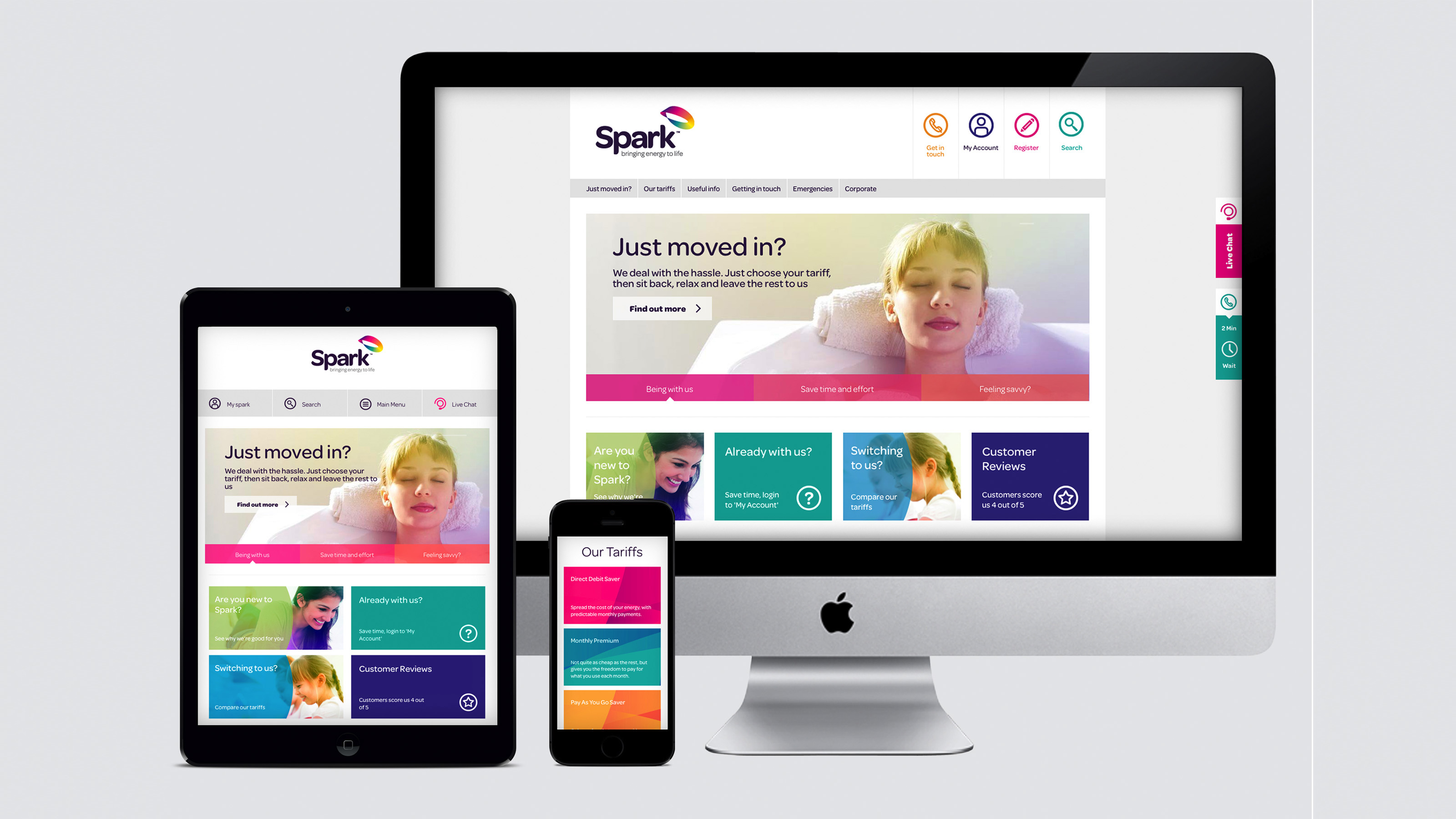 Spark website design, by 999