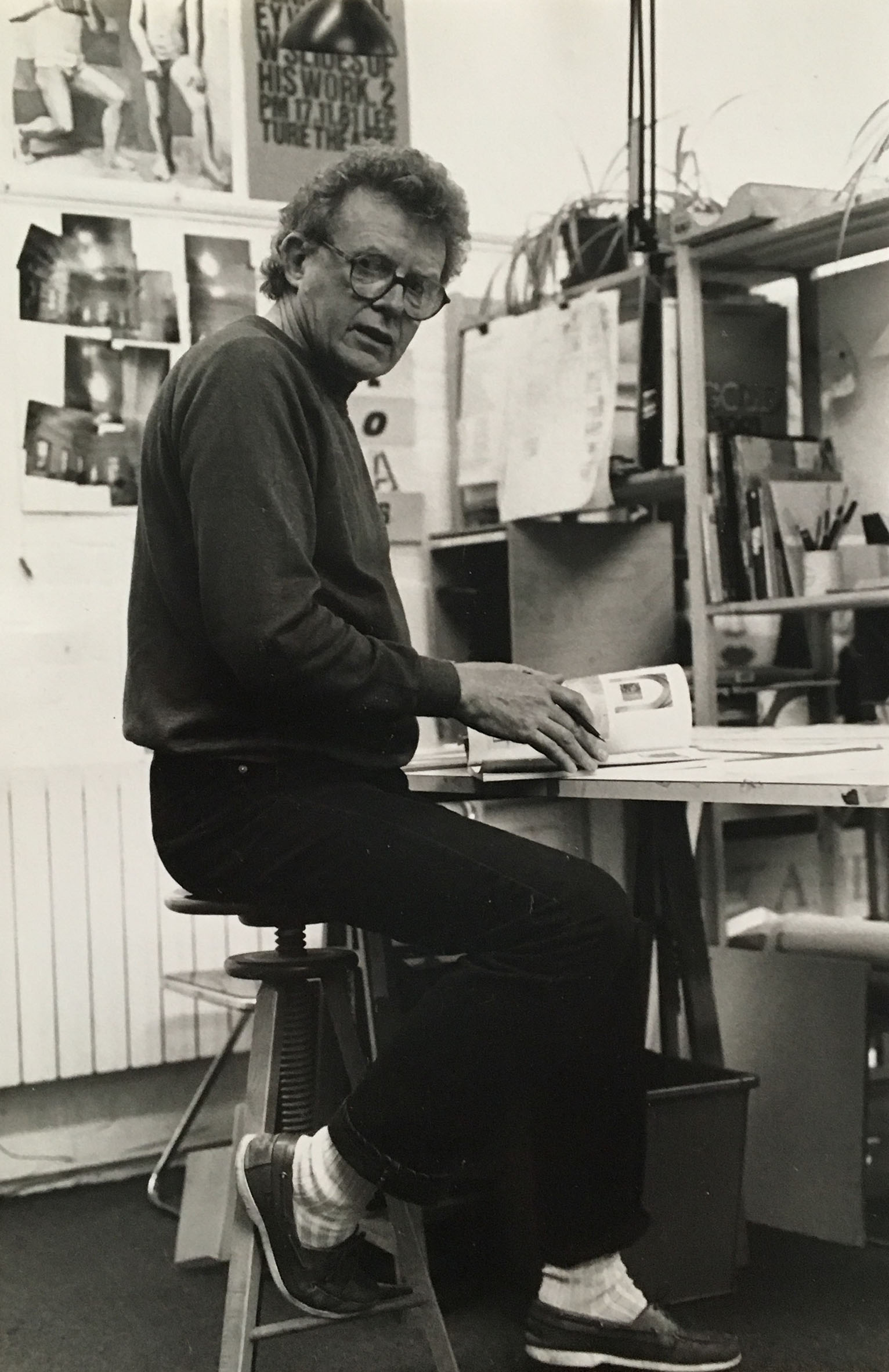 Bailey at work in 1986