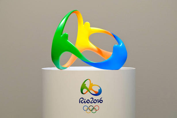 The sculptural version of the Rio 2016 identity. © ISMAR INGBER/AFP/Getty Images