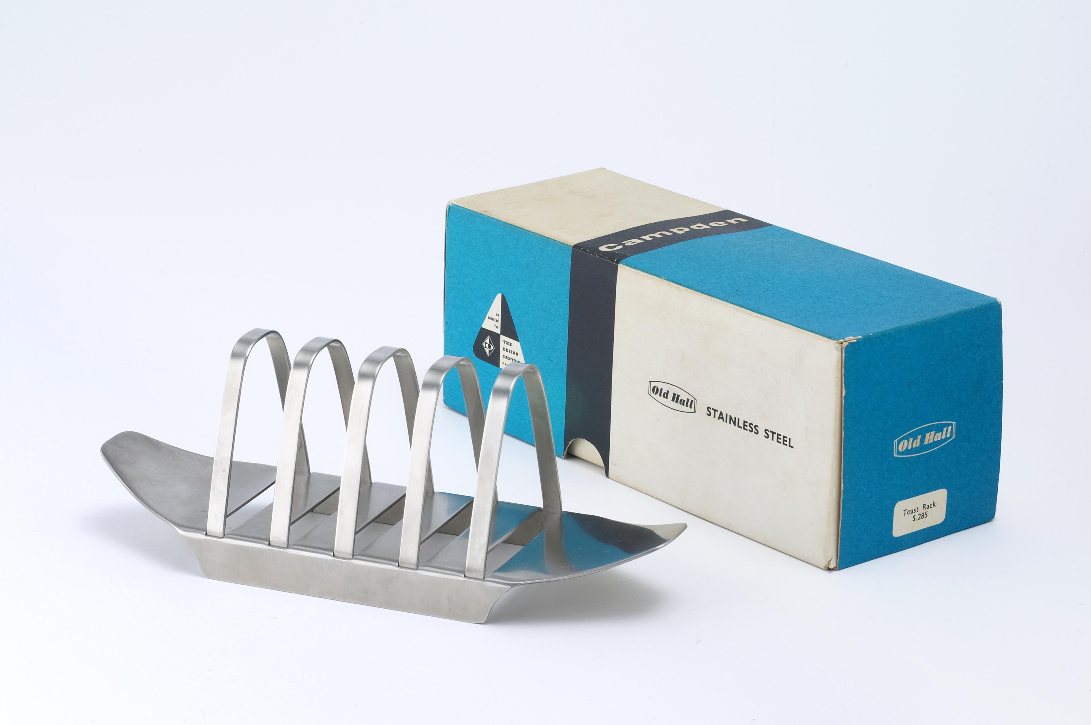 Close up of Campden toast rack & box