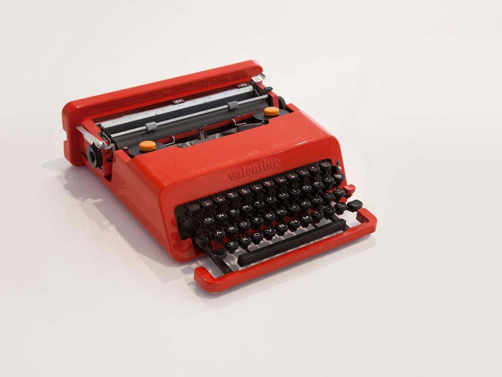Design Museum, Adopt an Object, Valentine Typewriter, Year 1969, Designer Ettore Sottsass