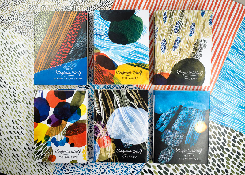 Book Cover Artist Pay : Virginia woolf book covers by aino maija metsola