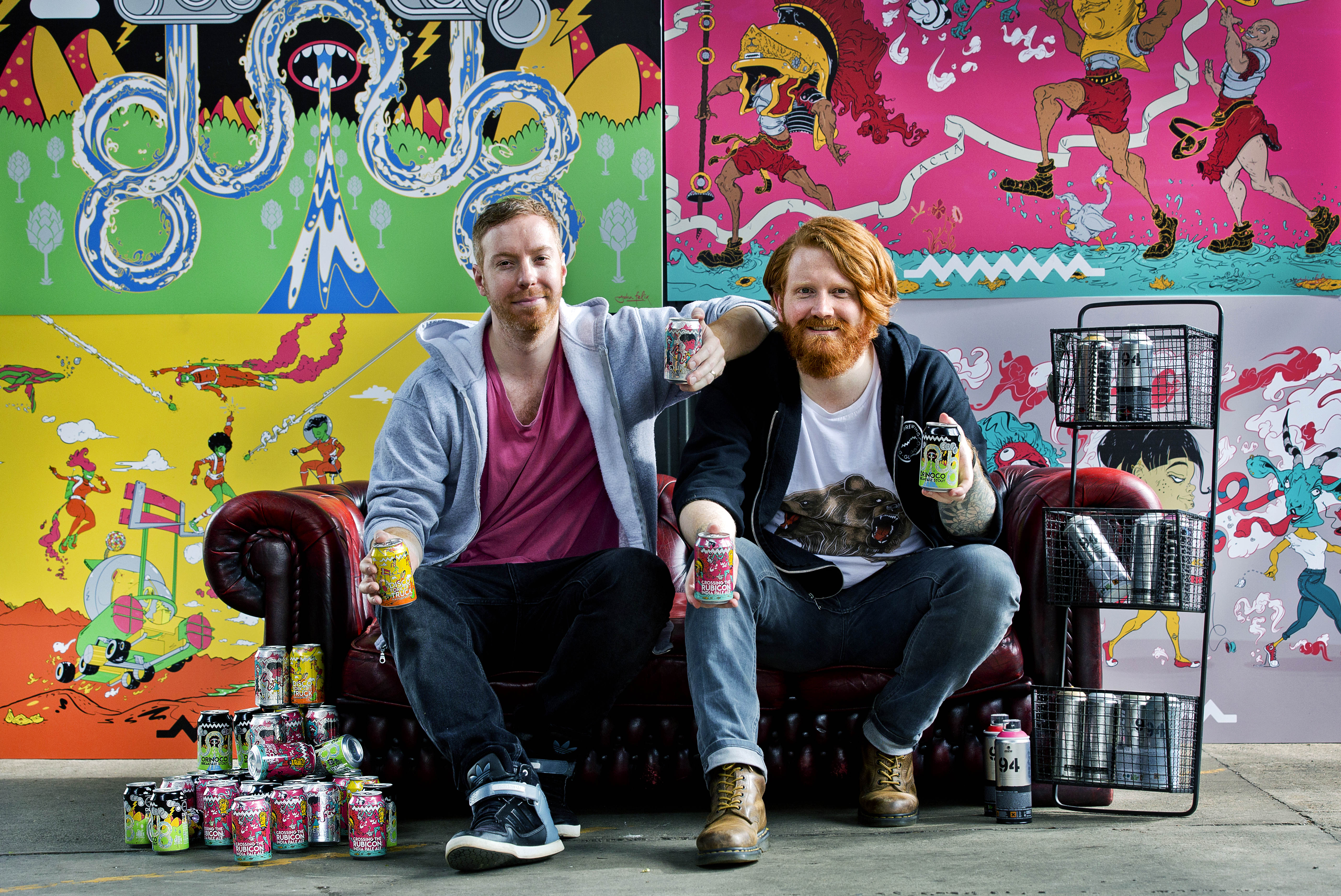 Artist John Felix and Drygate's Chris Moriarty