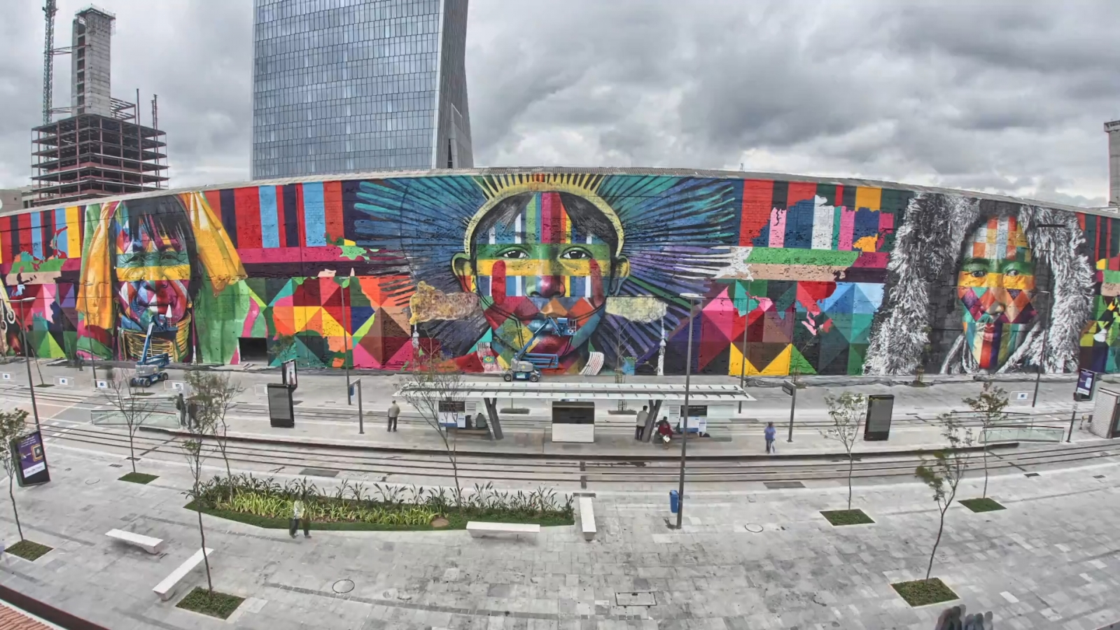 Paint Wall Mural Ethnicities By Eduardo Kobra