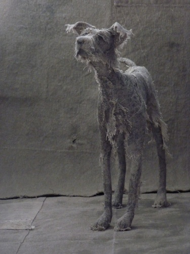 Holy Smoke,textile dog sculpture,£400,Wyn Griffths
