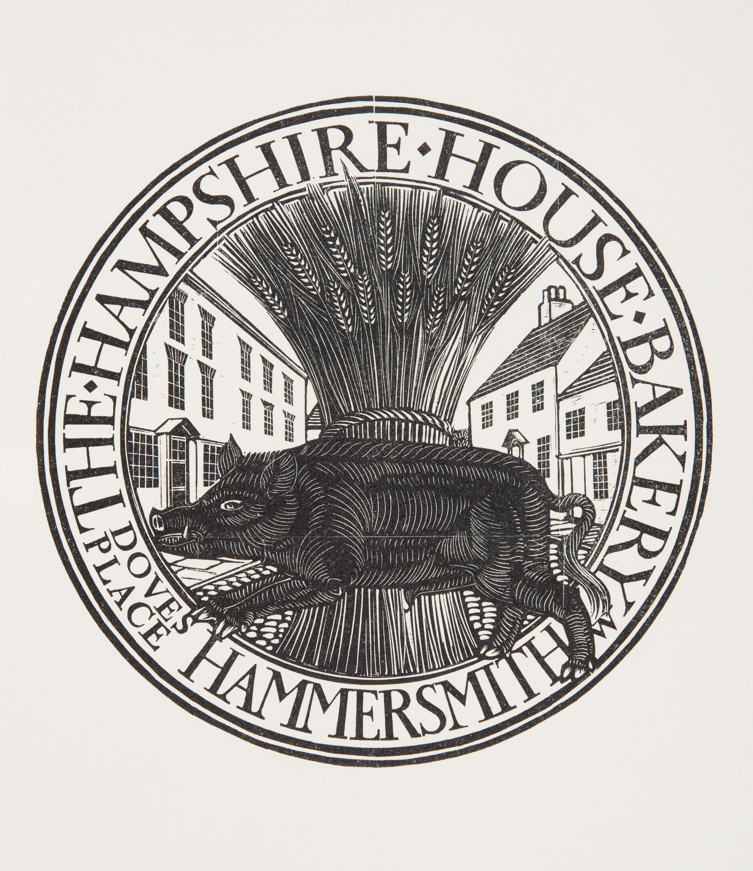 Hampshire Hog logo, 1915. Ditchling Museum of Art + Craft