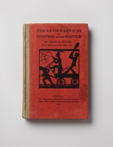 Douglas Pepler, Devils Devices, St Dominic's Press. Ditchling Museum of Art + Craft Epstein & John wood engraving.