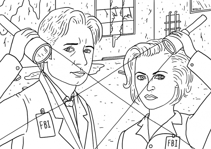 mulder and scully by Boglio