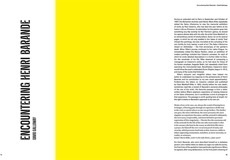 Henri Barande: The Work Beyond, spread designed by Christoph Stolberg