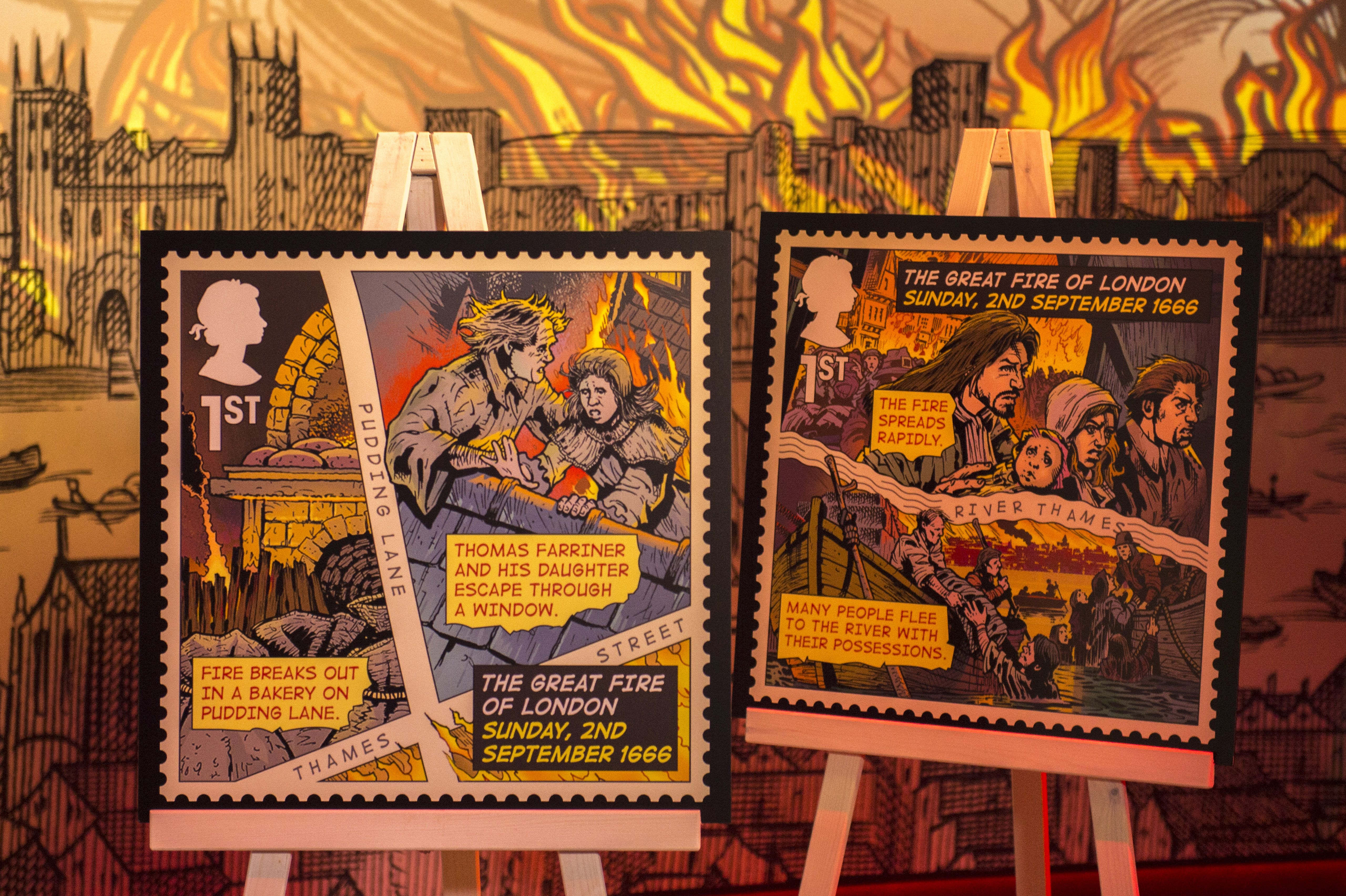 New royal mail stamps designed to commemorate great fire for Picture great