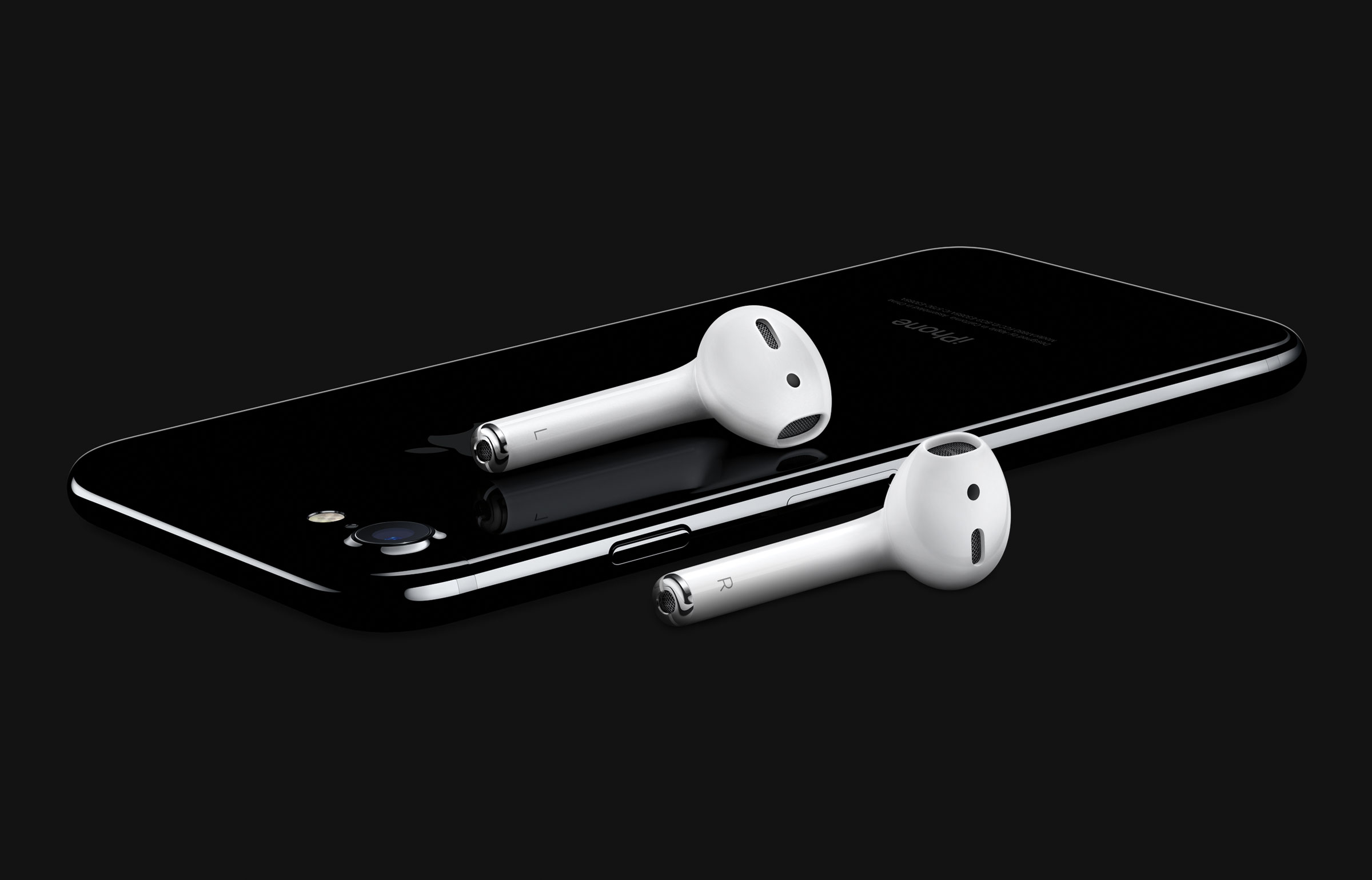 Apple's new AirPods, alongside the iPhone 7