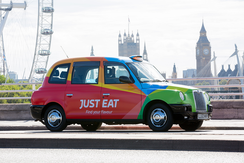 Just Eat taxi