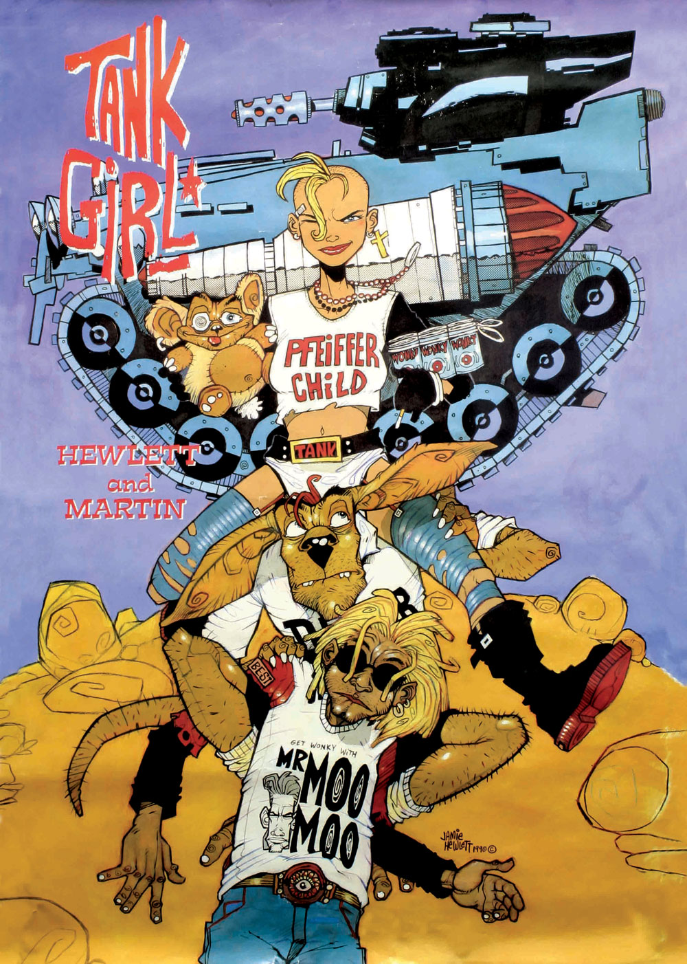 Tank Girl comic, by Jamie Hewlett