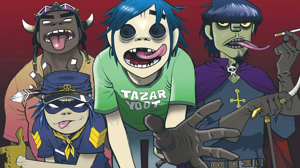Gorillaz illustrations, by Jamie Hewlett