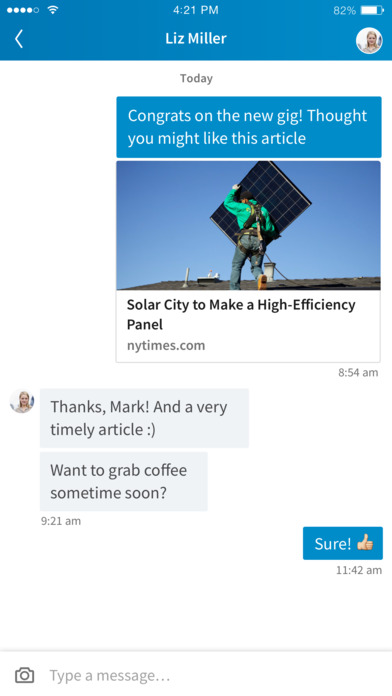 Linkedin new chat feature